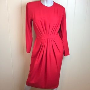 Vintage 80s/90s Red Party Wiggle Dress
